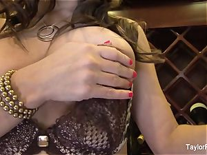 chesty black-haired Taylor Vixen taunts the camera