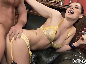 brown-haired wifey Karia Kare loving strangers beef whistle
