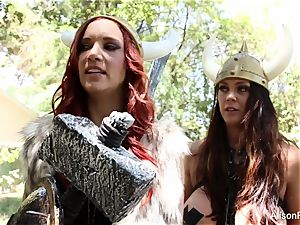 Alison Tyler and Jayden Cole are g/g vikings