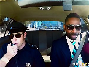 Bank robbing babe Bridgette B humps in front of the manager