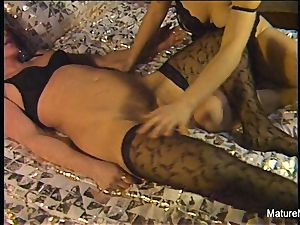 super-sexy elderly lesbos get down and messy first-timer style