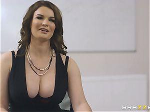 buxom secretary Tasha Holz gets a massive sausage at work