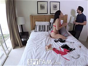 SpyFam Step father romps step daughter Abella Danger