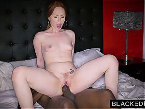 Ella Hughes exerting herself with that huge black fuckpole of Mandingo