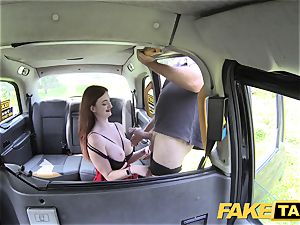 faux taxi Olive flesh sandy-haired in undergarments