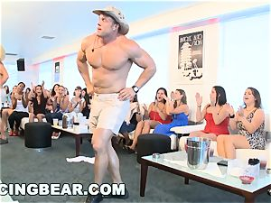 CFNM hotel soiree with gigantic man rod male Strippers