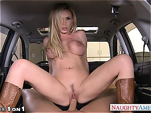 mischievous Nikki Benz in point of view getting her cougar poon plumbed