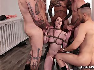bound up ginger-haired crammed with hefty cocks