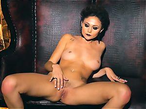 slender petite Ariana Marie sexy rubber solo masturbation