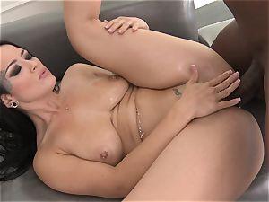 Katrina Jade creampied by ample black boner