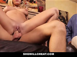 hotwife husband observes Wifes cunny Get destroyed