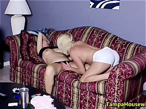 2 mischievous femmes with playthings