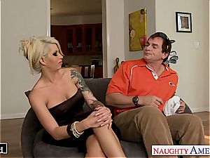 tatted ultra-cutie Brooke Haven gets facialized
