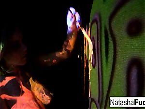 big-boobed Natasha Shoots A joy And magnificent dark-hued Light vid