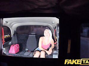 fake taxi wonderful ash-blonde in tight denim cut-offs
