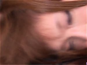 Serina Hayakawa gets splooge in the slit after gonzo