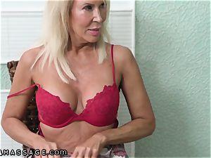 Mature mother Joins in Stepson's Nuru massage
