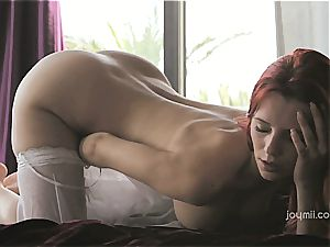 Piper Fawn wanking on satin sheets