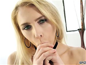 Spizoo - see nubile Alix Lyn sucking a ginormous meatpipe