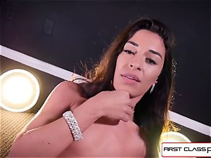 Cameron Canela strip down and and blow a large boner