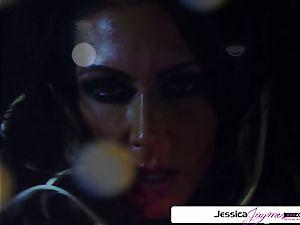 Jessica Jaymes inhaling and plumbing a gigantic penis