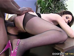Sarah Shevon loves anal invasion fuckfest with fat black chisel