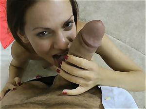Mira glisten slit packed with the hefty man sausage of Rocco