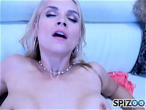 Sarah Vandella throating and pounding a meaty man sausage