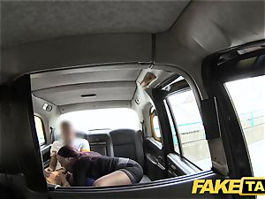 fake cab assistant girl with huge jugs and wet cunny