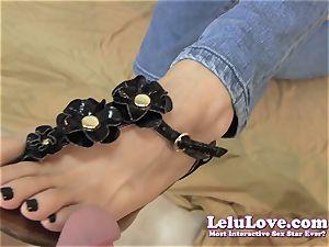 Lelu Love-Sandals ebony screws Footjob