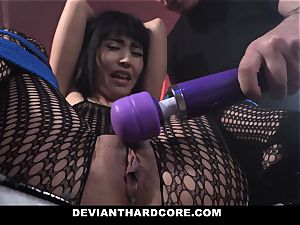 DeviantHardcore naughty asian Gets cock-squeezing honeypot whipping