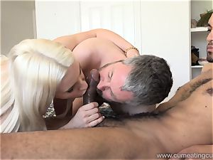 Niki Snow Makes spouse fellate ginormous black manmeat