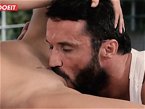 LETSDOEIT - massive man meat dad pounded by His Step daughters-in-law