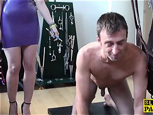 brit domme predominated and made to suck