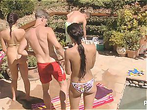 super-naughty poolside joy part trio