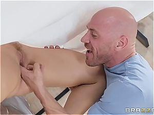 nasty wife with huge inborn boobs likes getting wedged in a cuckold activity