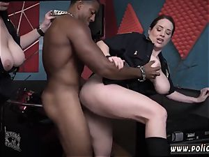 steamy cougar fake penis getting off humid flick takes hold of officer pounding a deadbeat daddy.
