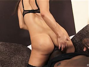 Francesca Le and friend Share One dark-hued chisel