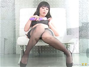 asian cutie Marica Hase humped in magnificent black undergarments