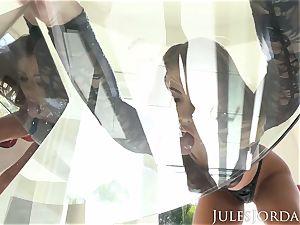 Jules Jordan - Adriana Chechik dual buttfuck creampie!