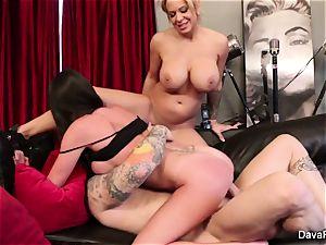 pov sucking and humping with Dava Foxx and Alyssa Lynn