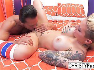 Nick Manning pulverizes inked pornstar Christy