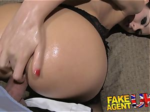 faux Agent UK european babes peachy ass fingered and drills