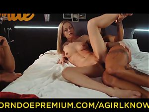 A nymph KNOWS - Susy Gala ravages sizzling girl-on-girl with strapon