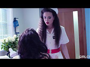 GIRLCORE girl-on-girl Nurses Give nubile Patient Vaginal examination