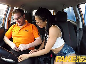 fake Driving school black american minx Kira Noir