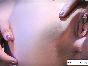 very first Class point of view - Alexa Nova sucking a yam-sized meatpipe in pov