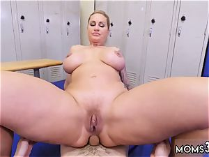 meaty bum cougar screw nubile dominant cougar Gets A creampie After assfuck fuck-fest