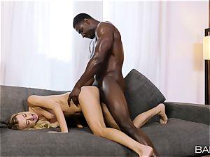 Natalia Starr pumped in her cunt by a big black cock
