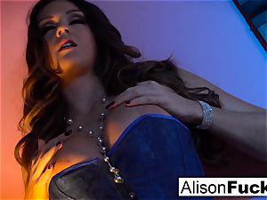 Alison posing nude in sofa